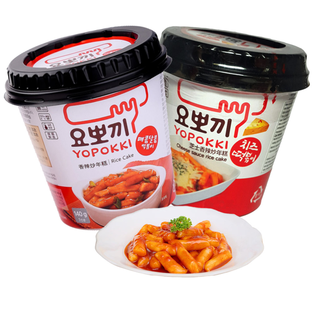 harga Yoppoki Cup Cheese / Hot & Spicy Rice Cake - 140gr elevenia.co.id