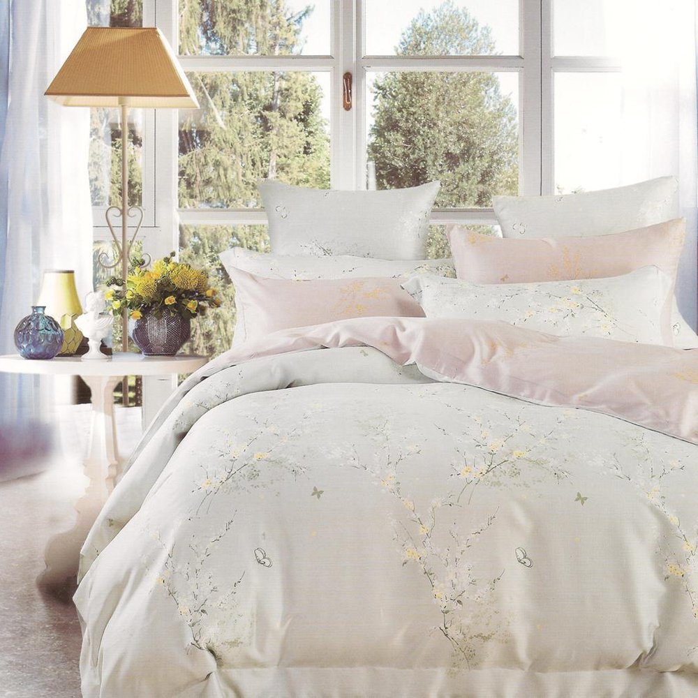 Sleep Buddy Sprei Dan Bed Cover Soft Firly King Size Sutra Tencel Halus