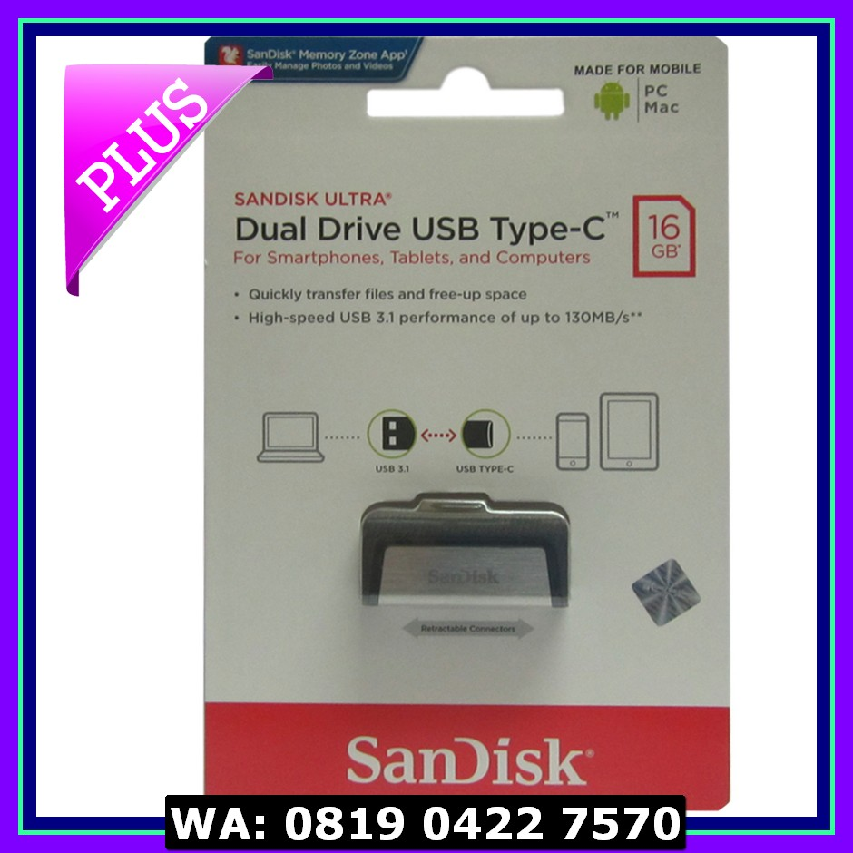 Sandisk Flashdisk Usb 3 Otg Type C 16gb Up To 130 Mb S Elevenia 32gb Black