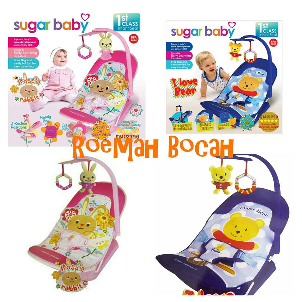 bouncer sugar baby infant seat fold up kursi bayi kado bayi