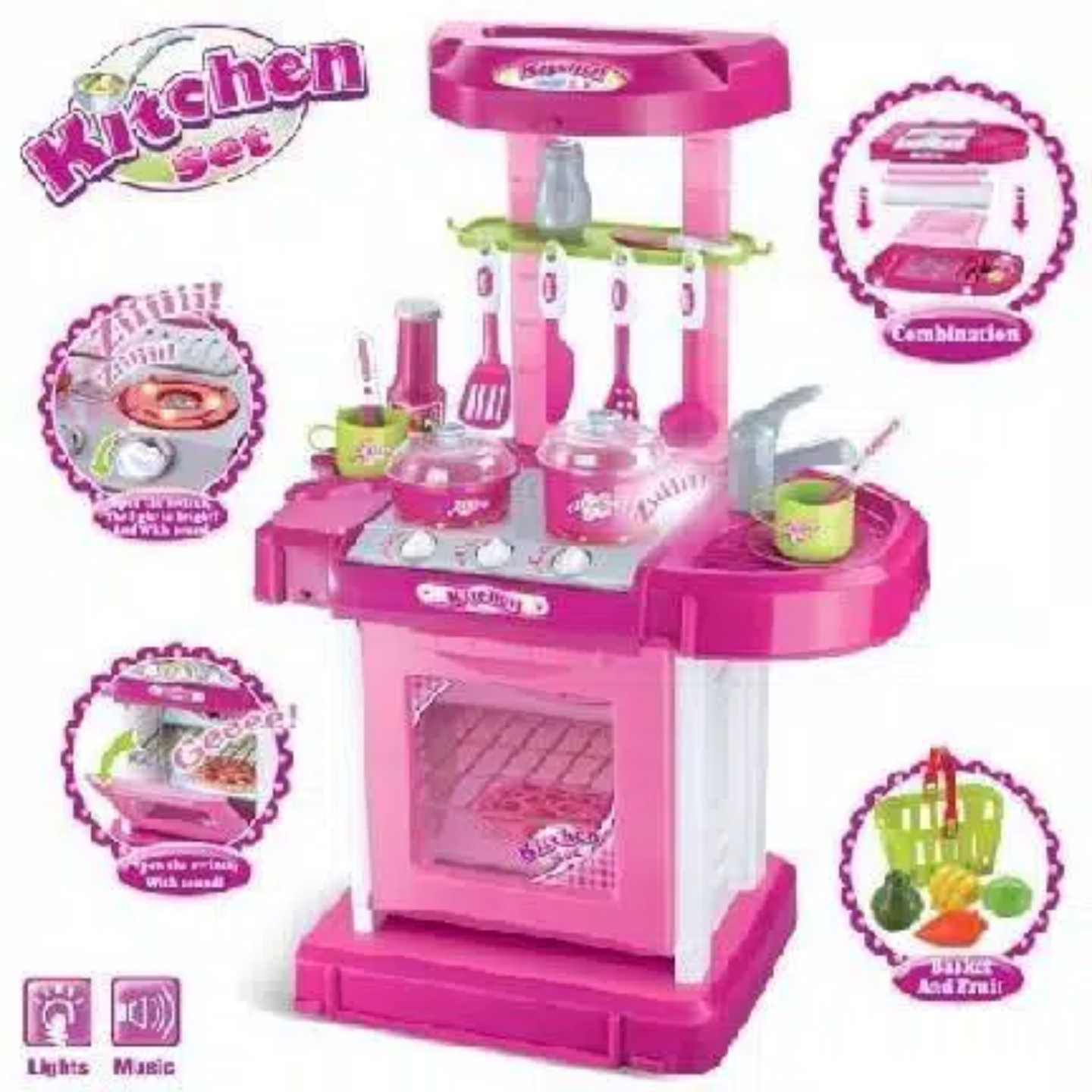 Kitchen Set Warna Orange: Mainan Anak - Kitchen Set Koper Warna Pink