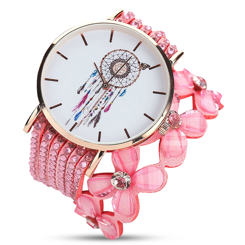 Luxury Fashion Casual Quartz Elegant Star Crystal Diamond Crystal Watch