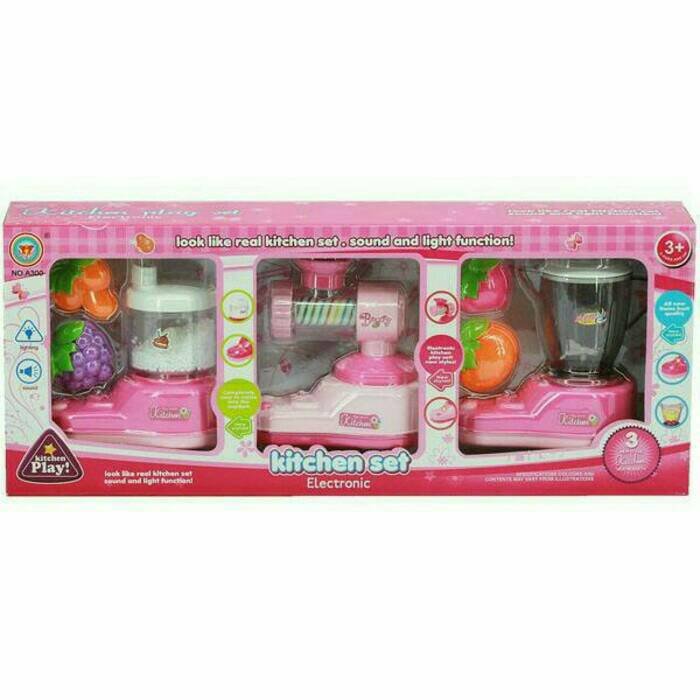 Mainan anak perempuan kitchen set electronic blender mixer for Kitchen set anak