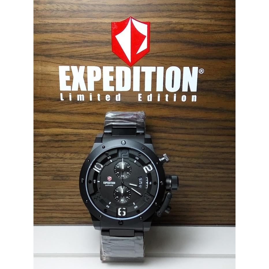Expedition Jam Tangan Pria Stainless Steel Strap E 6402 Silver Hitam E6392 Black Leather Brown E6381lm Saphire Chronograph Limited Edition