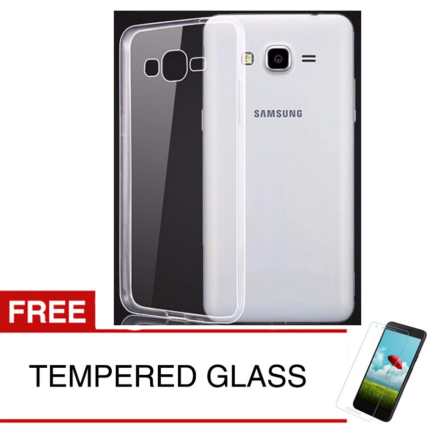 Crystal Case for Samsung Galaxy ACE 4 / G313 - Clear Hardcase - Gratis Tempered Glass