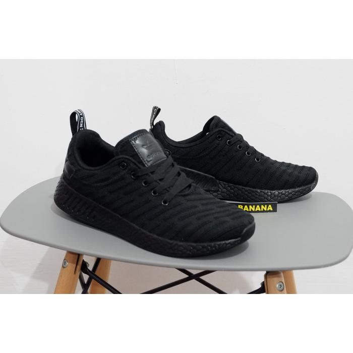 Sepatu Running Adidas Nmd Runner R2 R 2 Primeknit Full All Black ... 277d9bb3c3