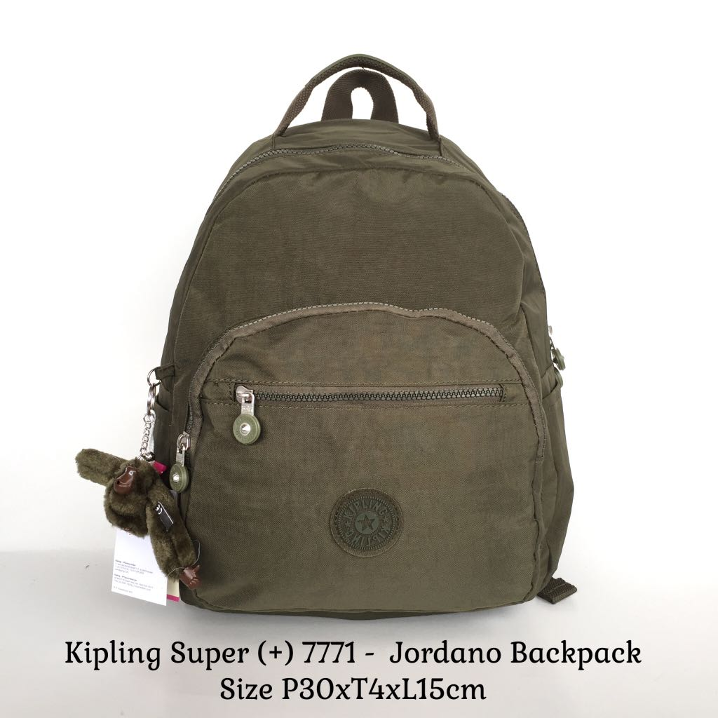 Tas Ransel Import Kipling Backpack Jordano 7771 - Hijau Army  9e9a26b098
