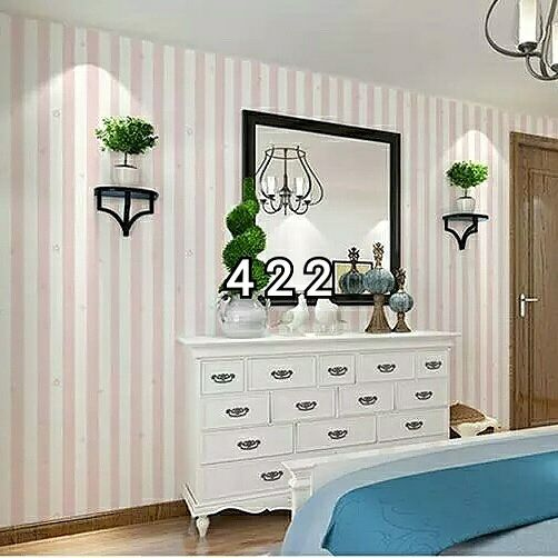 WAllpaper Sticker 45cmx10m Pink Line With Star