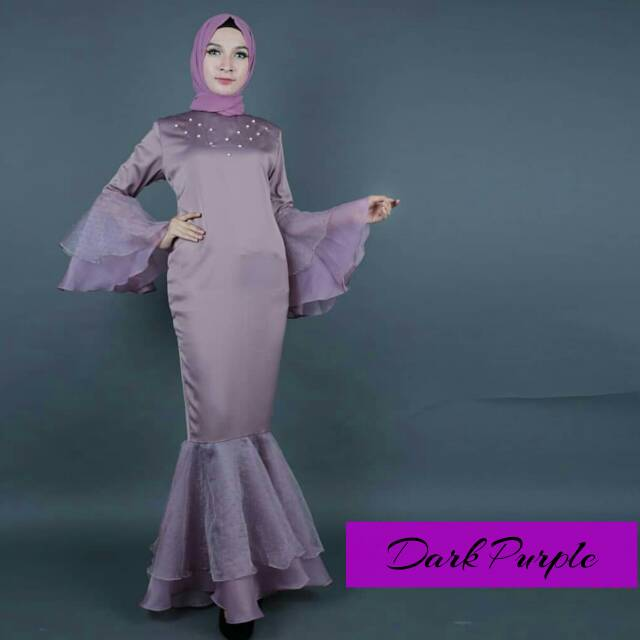 Jual Dress Pesta Mermaid Rok Duyung Organza Dress Kebaya K Murah