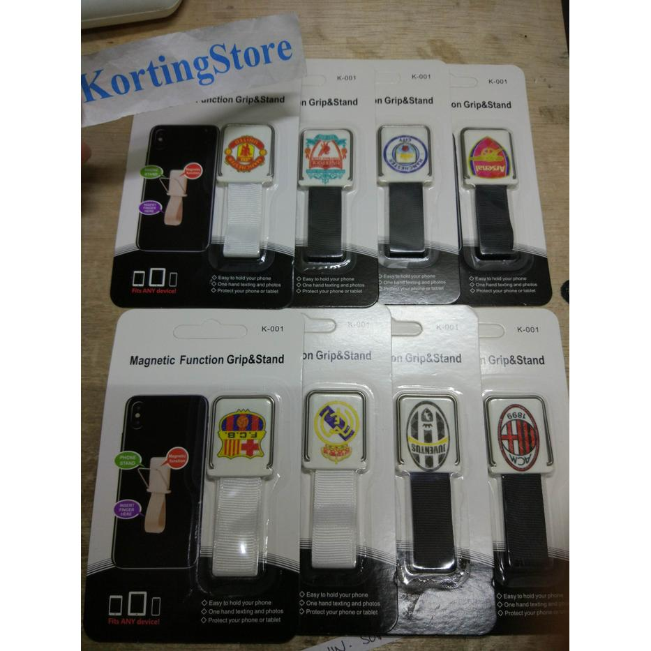 Ungrip Stand Magnetic Logo Football Finger Grip Holder Gantungan Hp 6