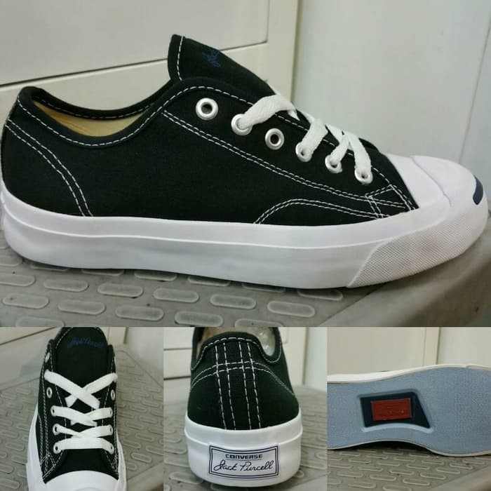 032f6c5724d474 Sepatu Kets Converse All Star Jack Purcell Canvas Low Black White ...