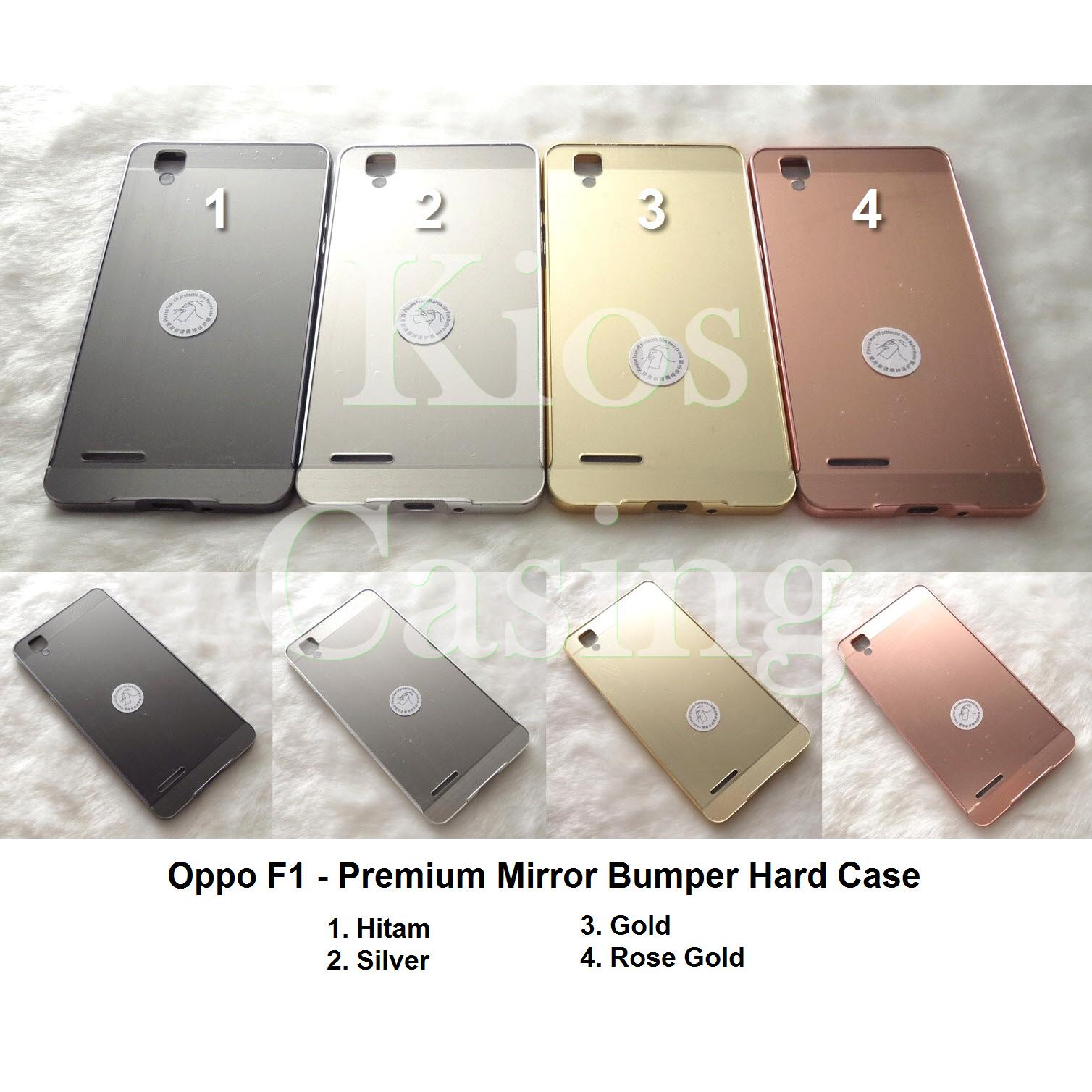 Case Untuk Oppo F1 Plus Bumper Chrome With Backcase Mirror Hitam Aluminium For Texture Wood Back