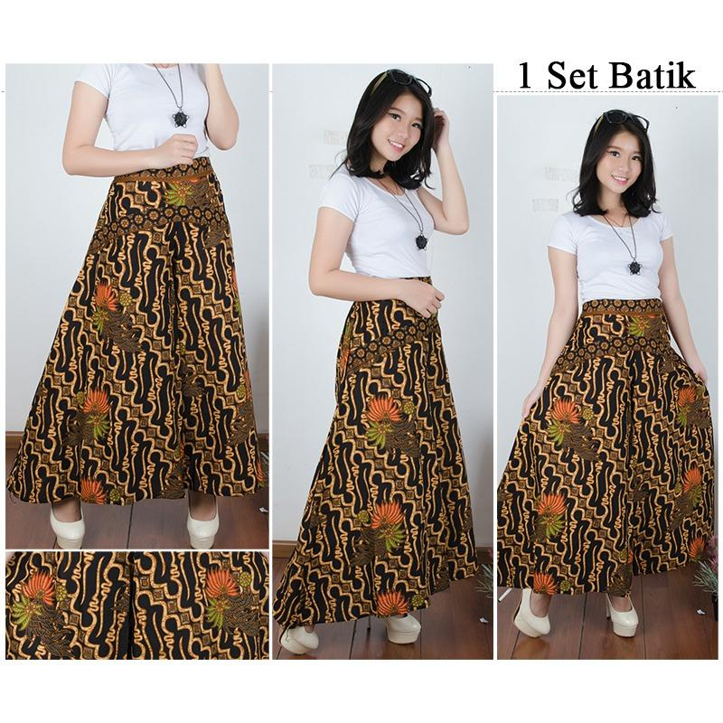 SB Collection Celana Panjang Talia Kulot Batik Wanita