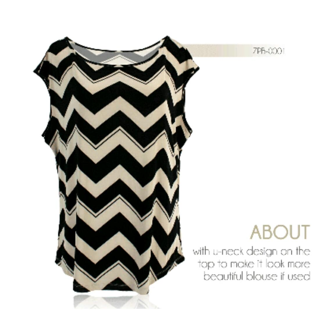 Blouse Zig Zag Pattern For Woman Elevenia Buku Bantal Mengenal Abjad Brs002