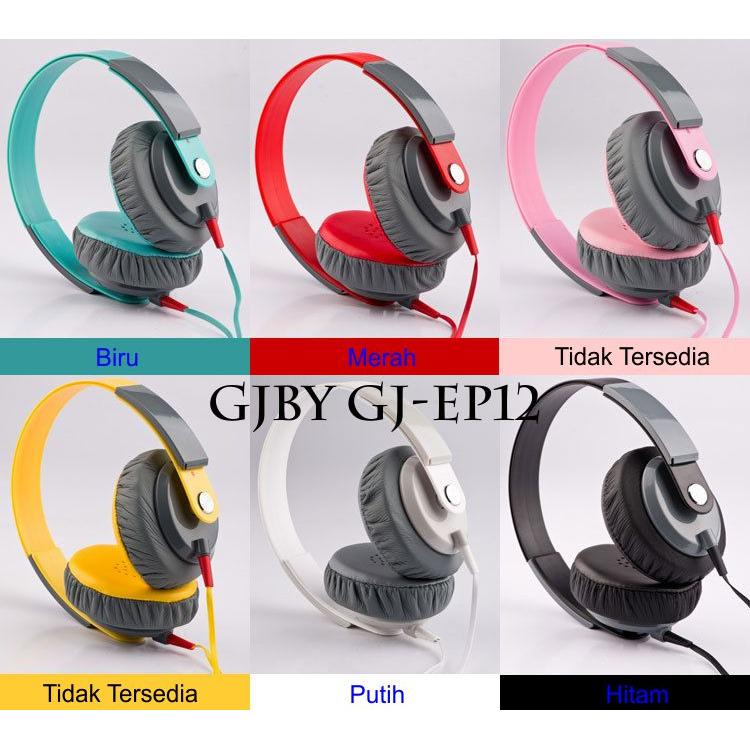 Headphone Handsfree GJBY GJ-EP12 SuperBass Wired Stereo with Mic