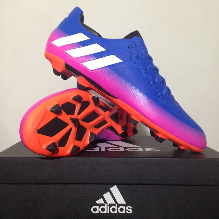 ... good texture Sepatu Bola Adidas Messi 16.3 FG Blue Solar Yellow BA9021  Original 25bbe 991d9 9e629bad131ce