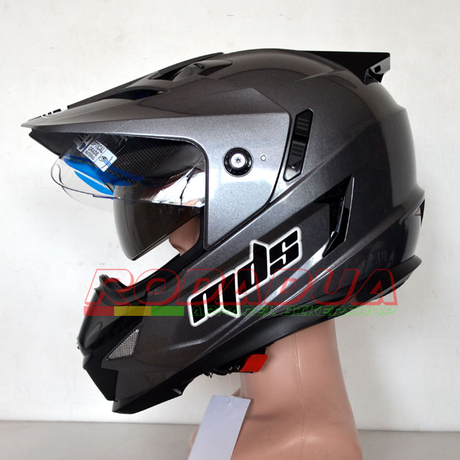 Helm Supermoto Mds Grey