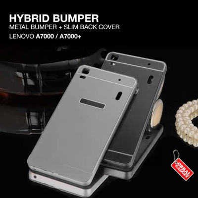 Lenovo A7000 Plus A7000 Hybrid Aluminium Bumper Thin Back Hard Case