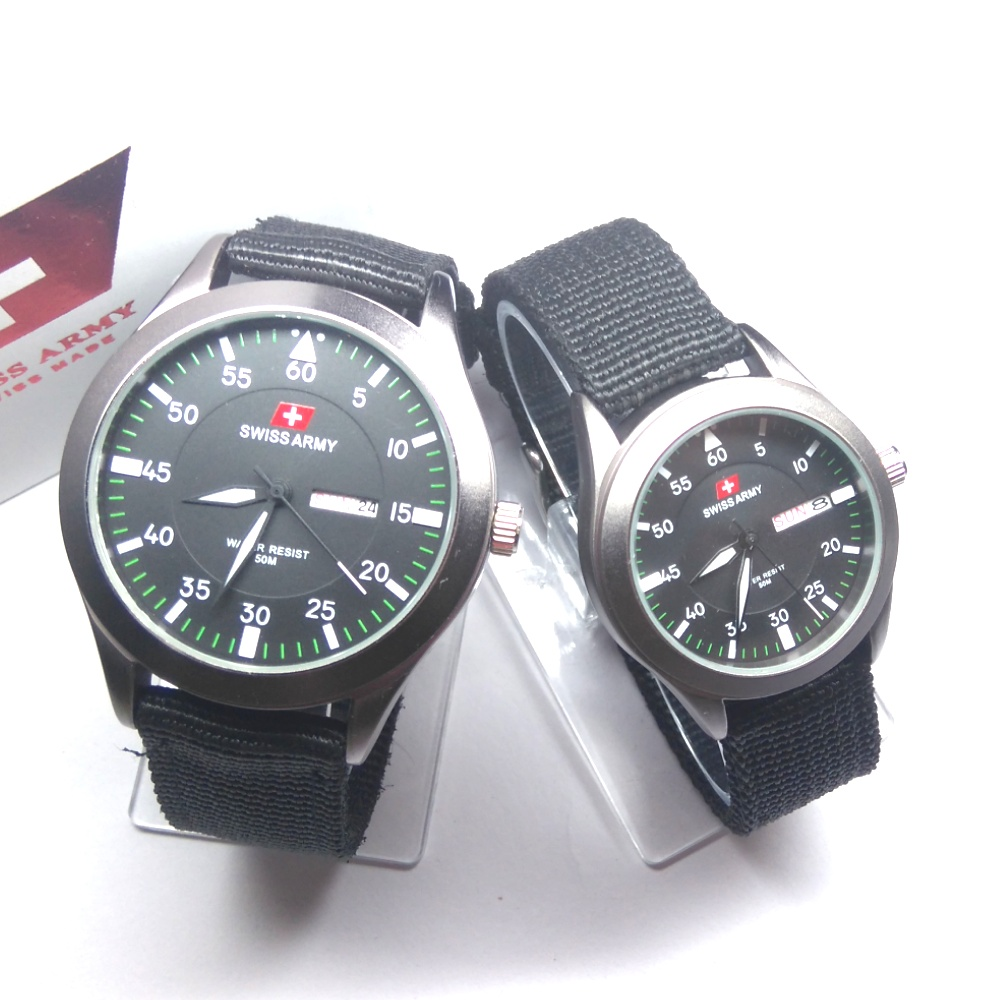 swiss Army  Jam Tangan Couple Premium Canvas  96dd8a792f