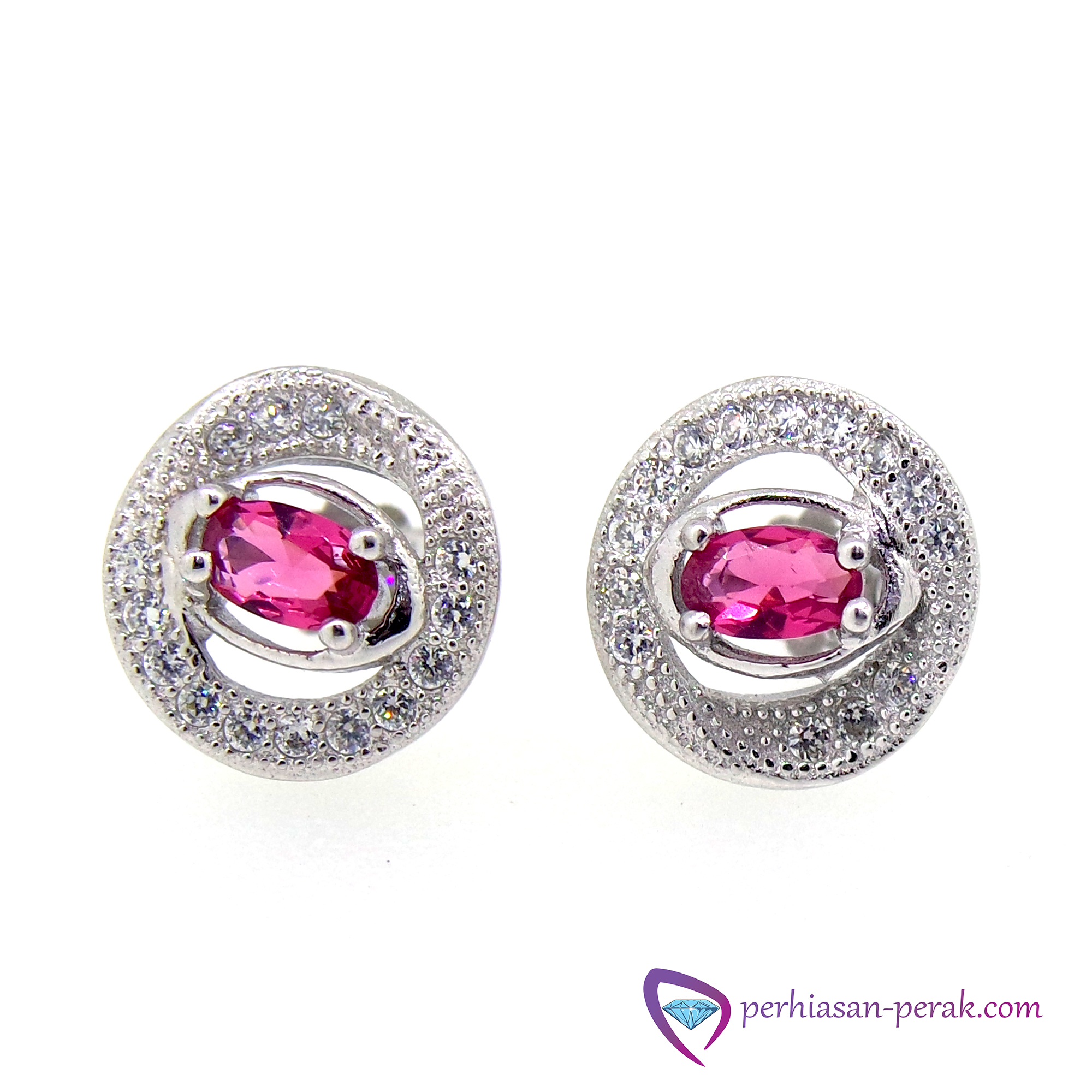 Anting / Giwang Silver 925 White Kristal Sterling Silver 925 .