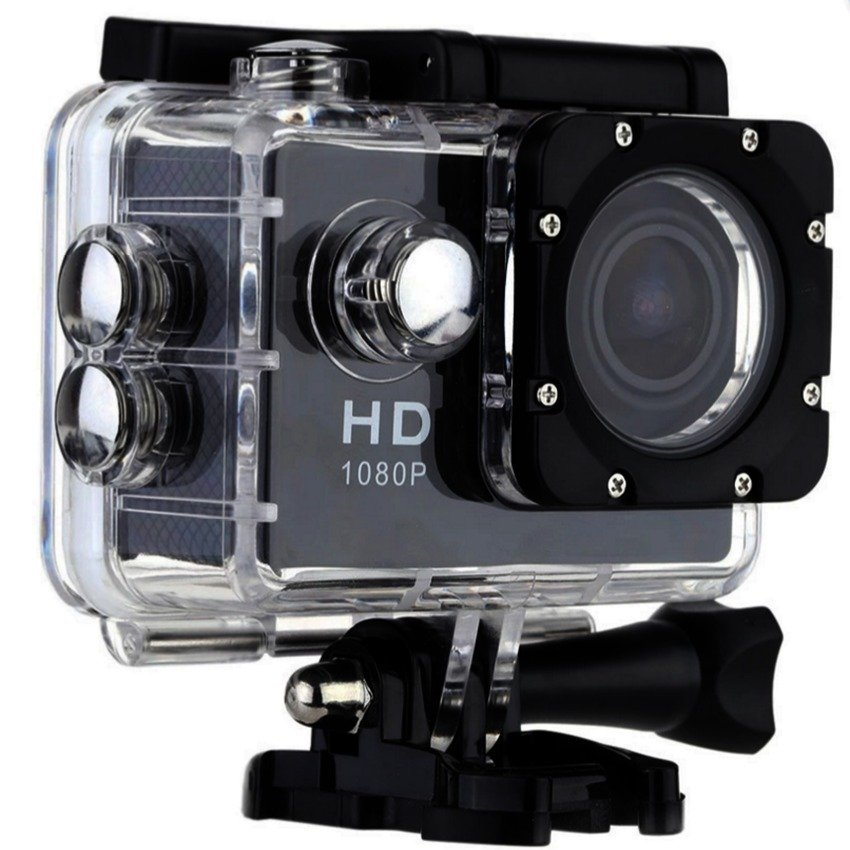 action camera sport cam full hd 1080p 12mp waterproof 30m. Black Bedroom Furniture Sets. Home Design Ideas