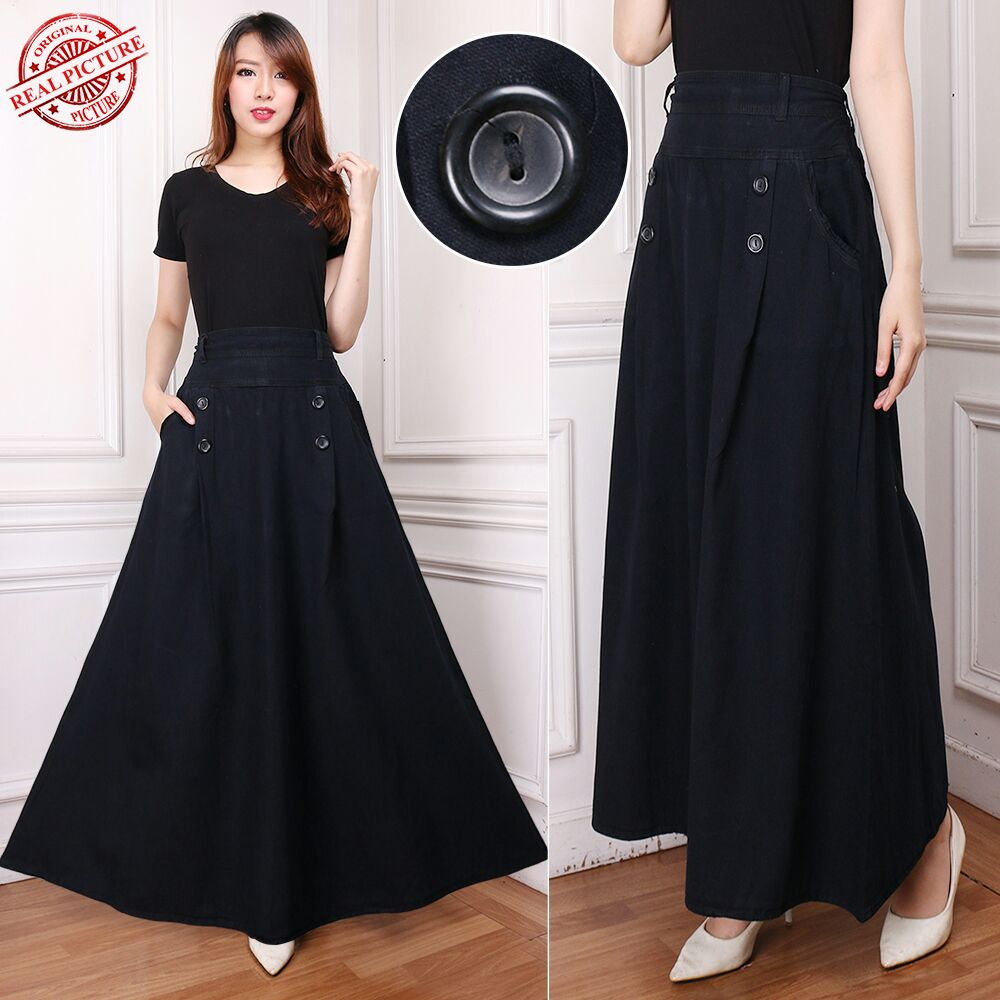 Sb Collection Rok Lilit Konita Long Skirt Biru - Daftar Harga ... - Rok