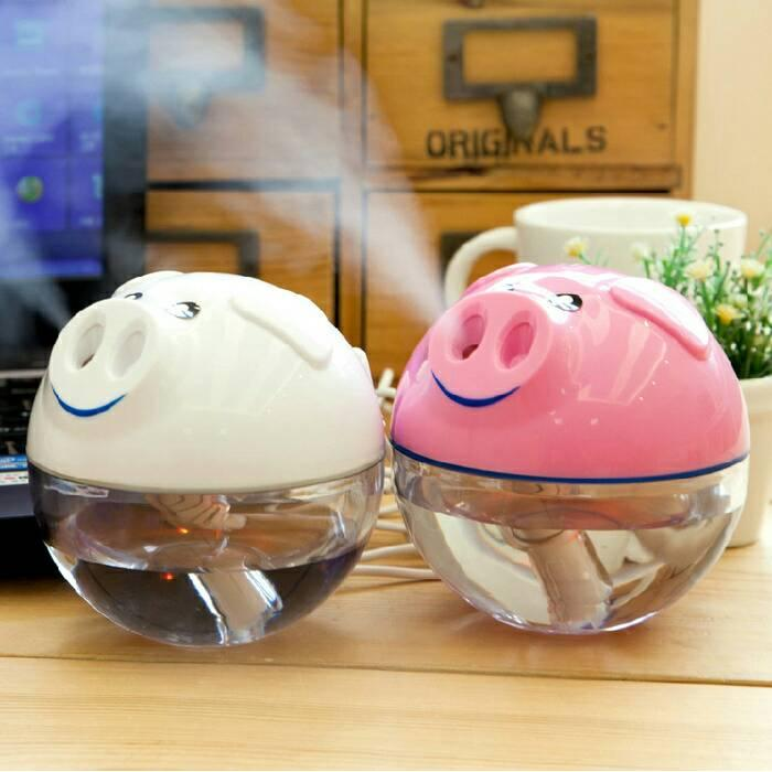 Lucky Usb Car Charger & Car Humidifier Aromatherapy Diffuser Source · USB Pig Humidifier Air
