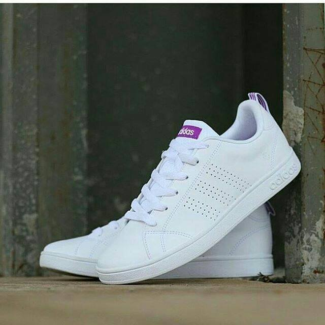 Sepatu Adidas Neo Advantage White List Violet   purple  8a638231a6