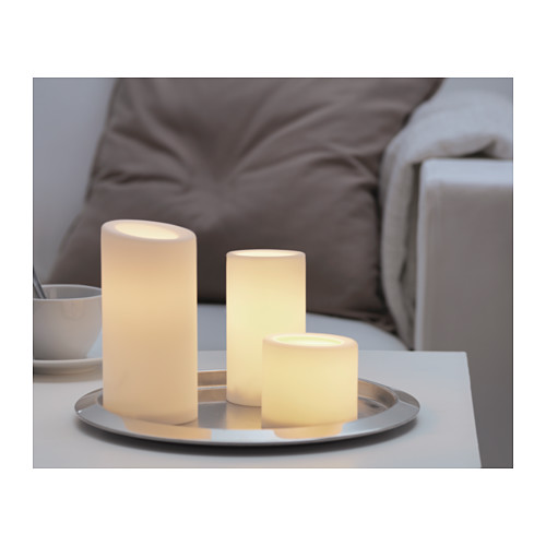 ikea r stopen led block candle battery operated white 13cm led built in 1 pc elevenia. Black Bedroom Furniture Sets. Home Design Ideas