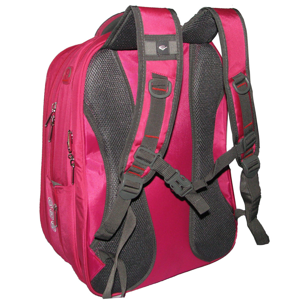 Giordano 66015 Backpack Laptop Expandable Original Import Free Kunci Pin Angka Raincover Dan Rose Pink