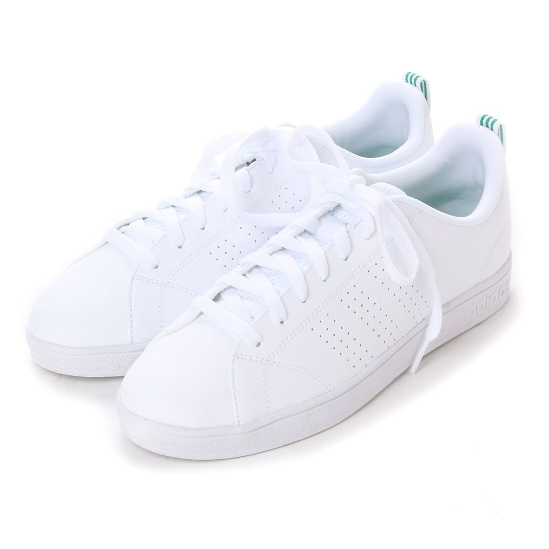 3db3887f199b Sepatu Wanita Adidas Neo Advantage Clean White List Green F99251 Sneakers  Shoes