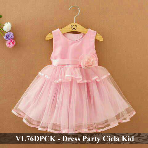 dress anak perempuan murah - grosir baju anak - VL76DPCK - Dress party  ciela kid fit 3-5 tahun 9b87a3732c