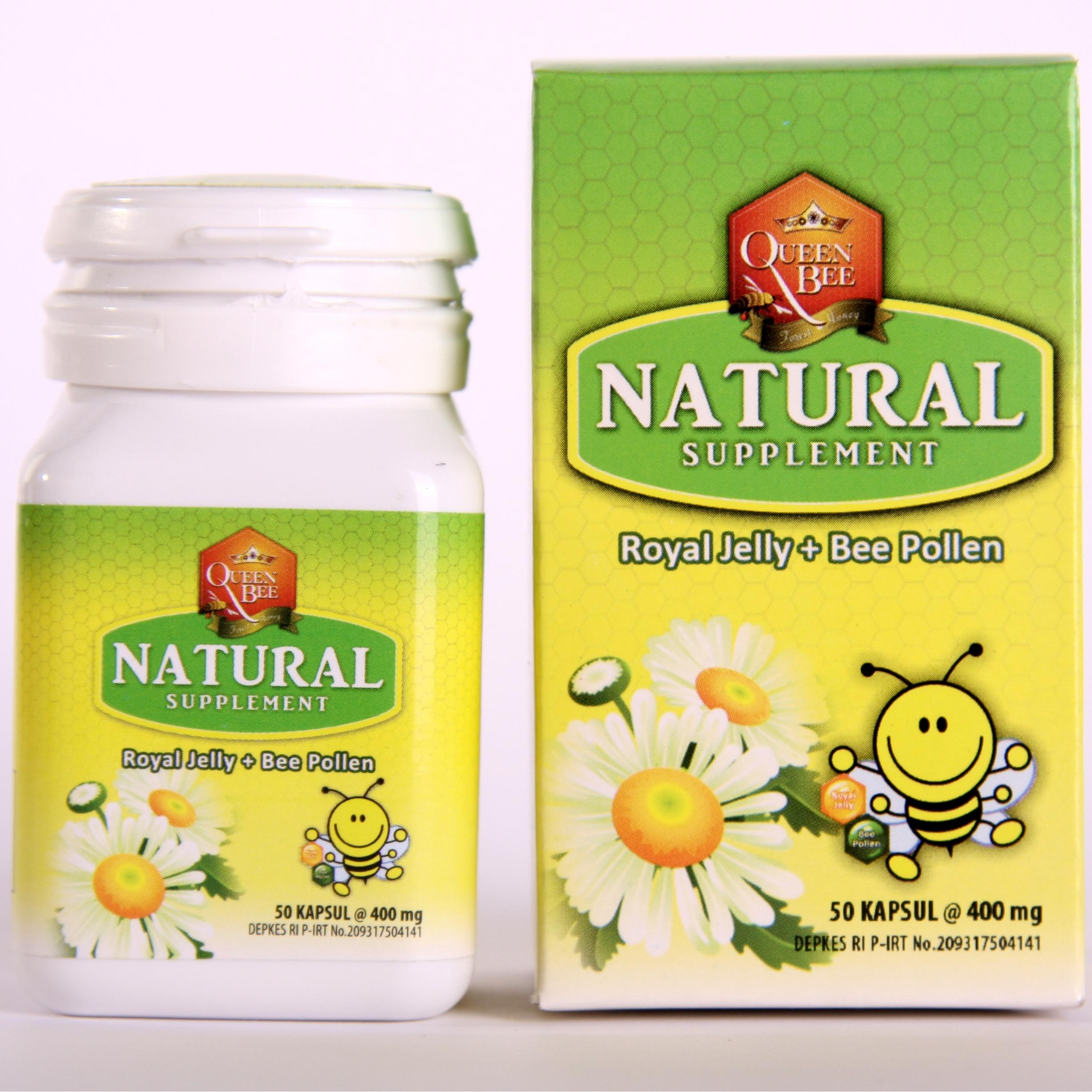 Queen Bee Royal Jelly Pollen 50 Caps Elevenia Vege Blend Fruit 18 Jr For Kids 30