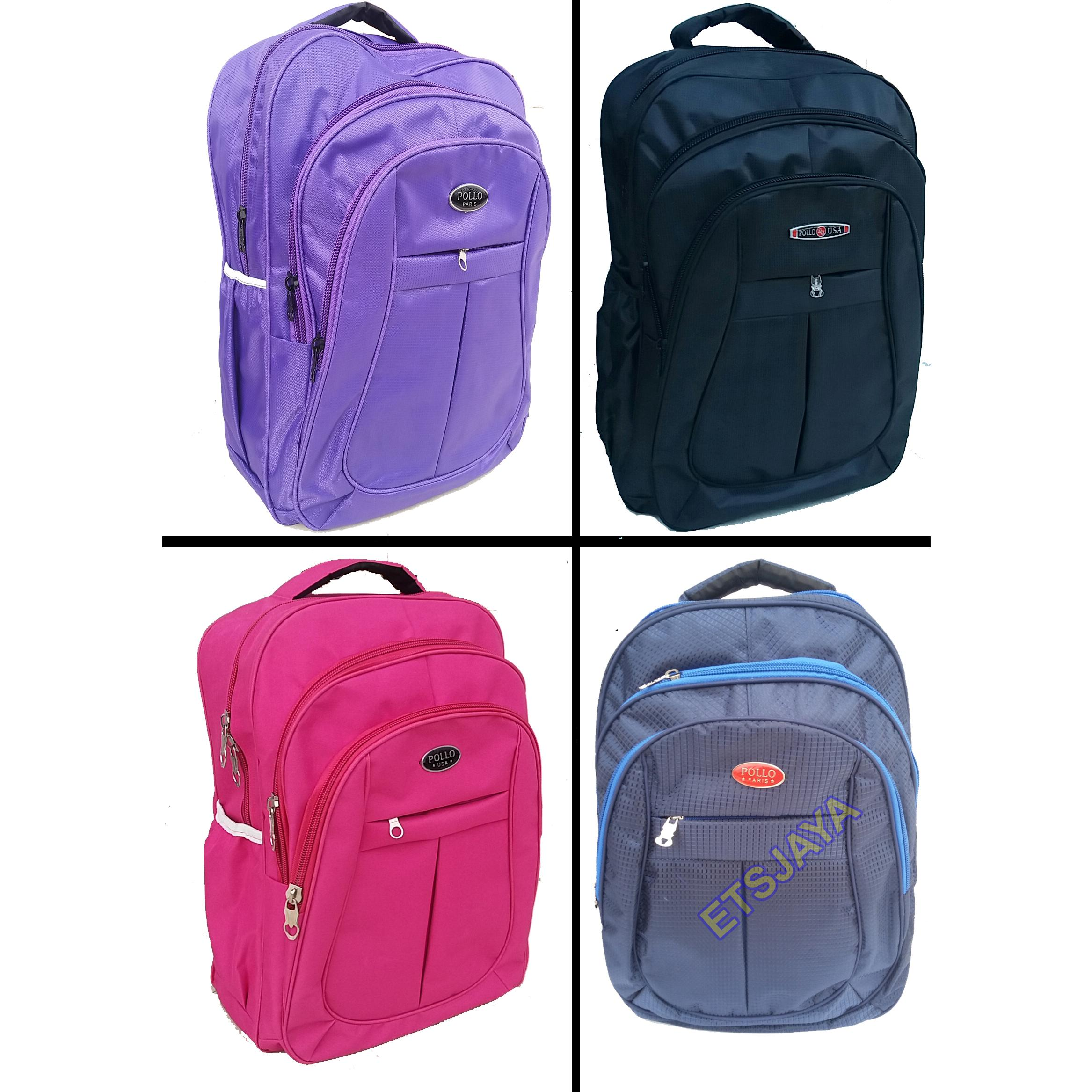 ... Free Rain Cover Tas Ransel Laptop Polo Paris 4 Warna - Backpack - Ransel ...