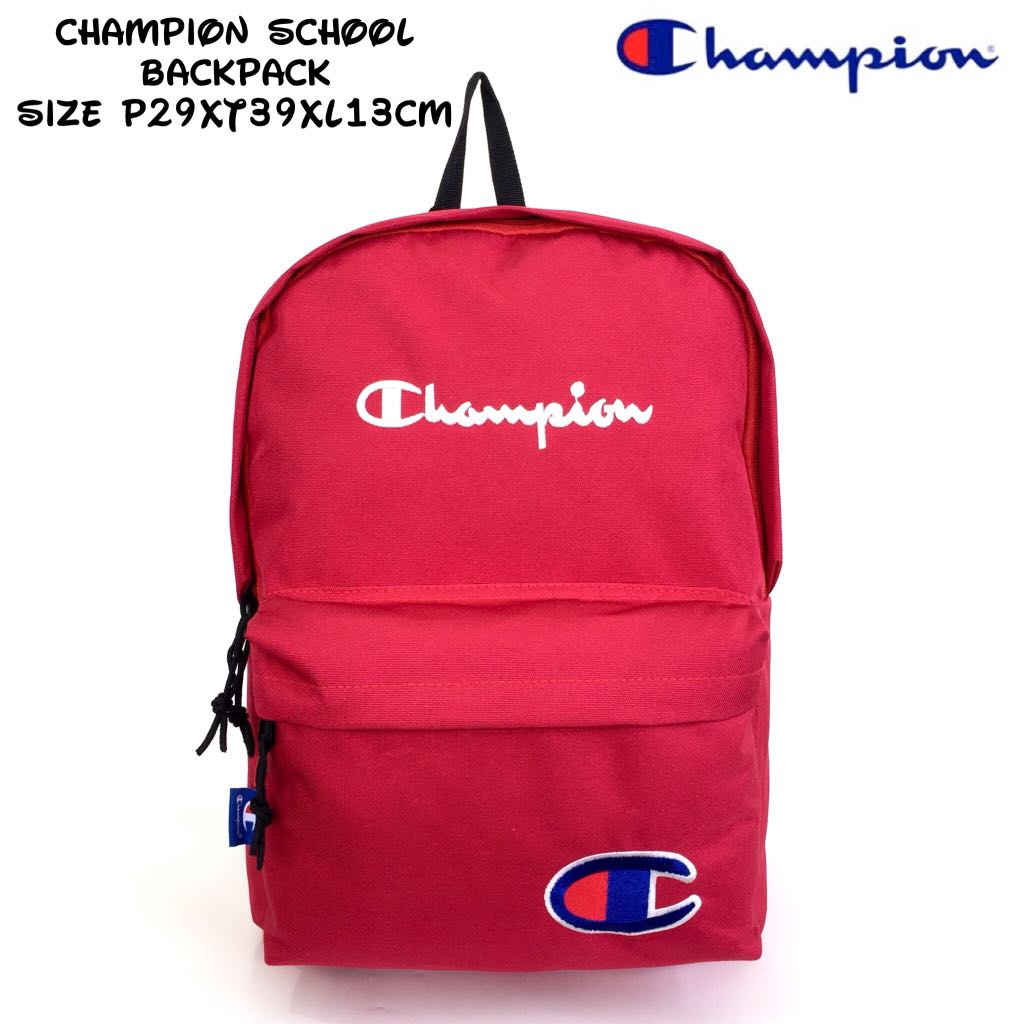 Tas Import Backpack Champion School Backpack - Red  38a9de78d9