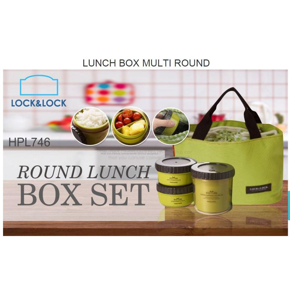 lock lock round lunch box set l elevenia. Black Bedroom Furniture Sets. Home Design Ideas