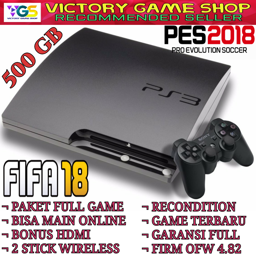 Promo Harga Ps 3 Slim Cfw Terbaru 2018 Refurbish 20xxx 480 Hdd 120gb 500gb External Refurbished Sony Playstation 250gb 2 Stick Wireless Hot Ps3 Multiman