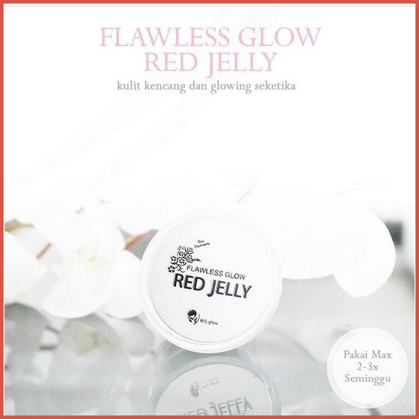 Ms Glow Red Jelly Bpom Flawless By Elevenia