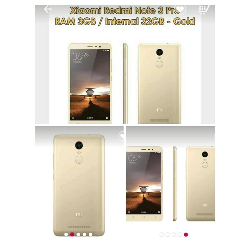 Hp Redmi Note 3 Pro 32gb Gold Dist Elevenia Xiaomi 32 Gb