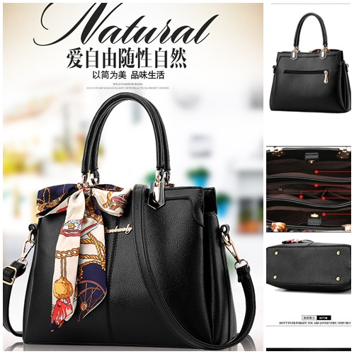 TAS handbags ELEGAN KERJA 2929 IMPORt WANITA MURAH FASHIONbag KOREA SIMPLE  SIMPEL WITH SCARF CANTIK WM FASHIONIS a397b39d5b