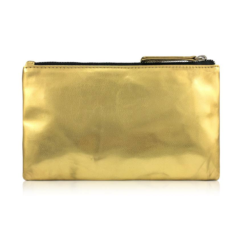 VONA Janis Universal Pouch HP Dompet Koin Handphone Purse Kulit Sintetis - Distressed Gold
