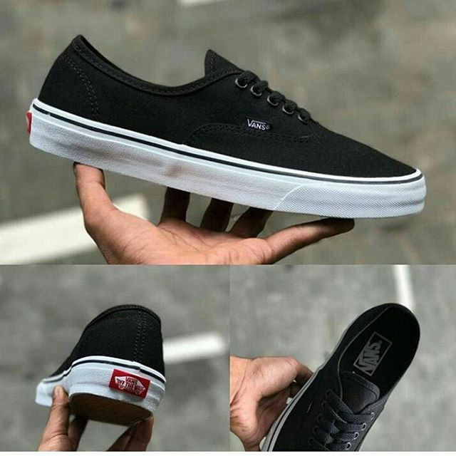 Sepatu Casual   Sepatu Vans Autentic Black Canvas material high quality 1 8e1300e1d7