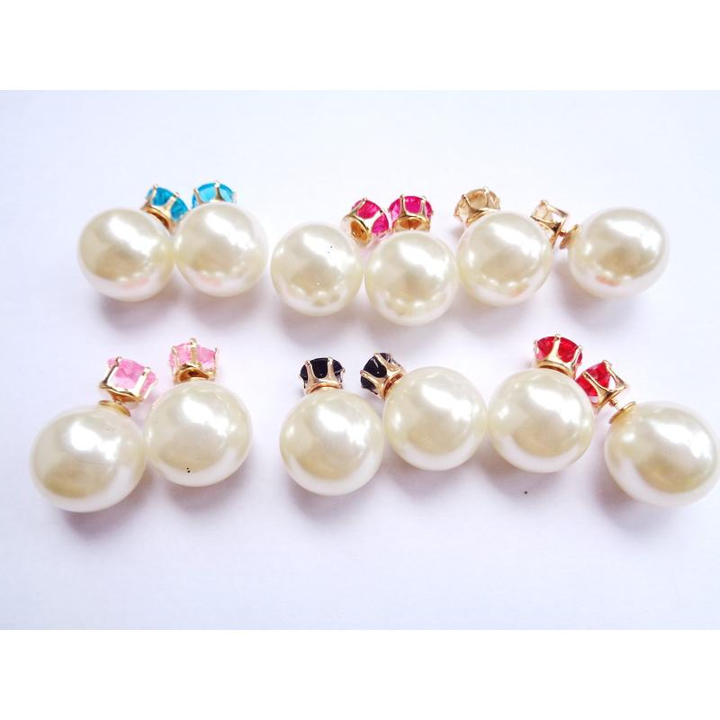 Anneui EE0056 Anting double pearl candy stud