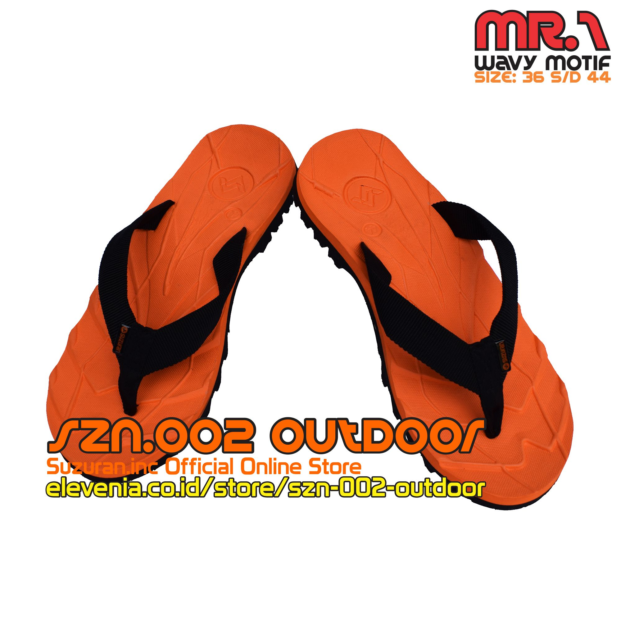 Suzuran Sandal Gunung Cross Thumb Mr2 Brown Flip Flop Mr1 Orange W Black Elevenia