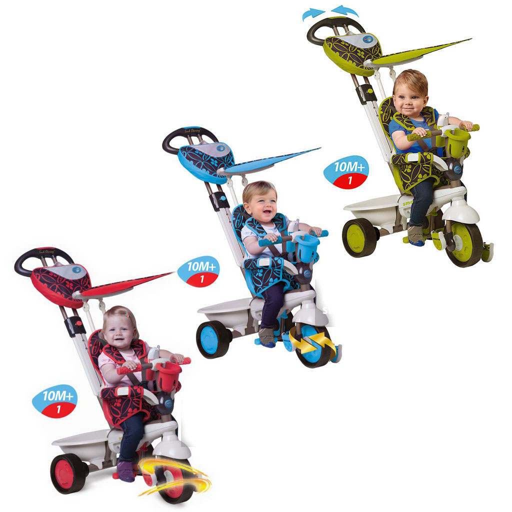 smart trike 4 in 1 dream touch steering tricycle blue. Black Bedroom Furniture Sets. Home Design Ideas