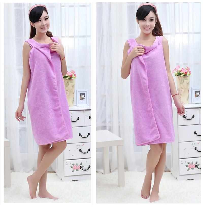 Baju Handuk Multifungsi / Unisex Microfiber Wearable Towel Bathrobe
