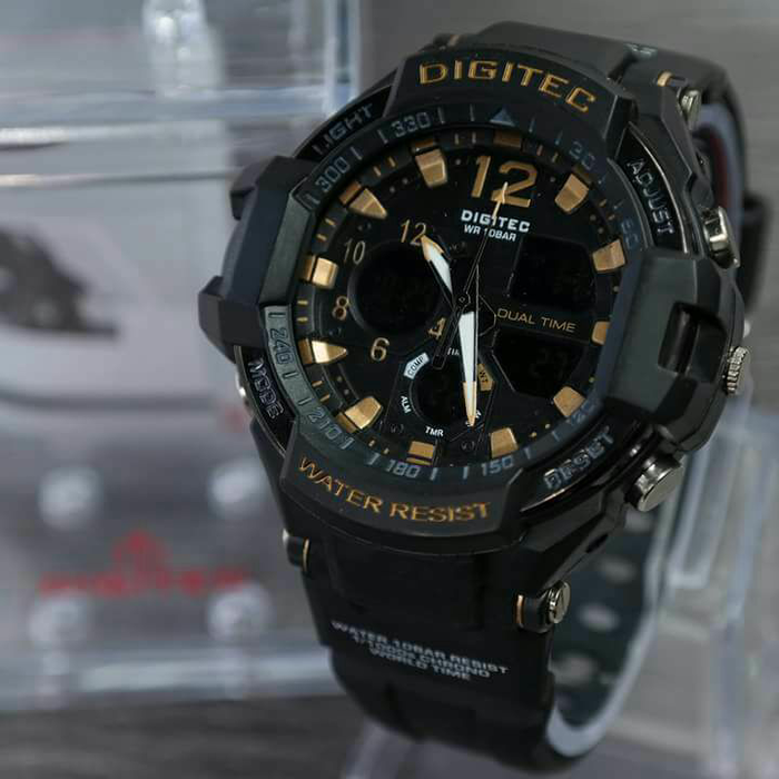 Jam Tangan Digitec DG 2094T Black Gold Fashion Original Dualtime Murah f3fbdb8b87